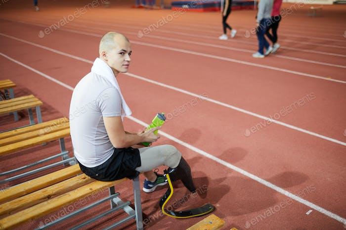 Sportsman after training