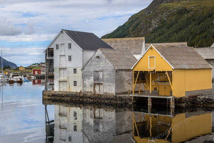 Warehouses in the harbour of Runde