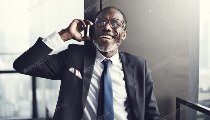 Businessman Communication Mobile Phone Connect Concept