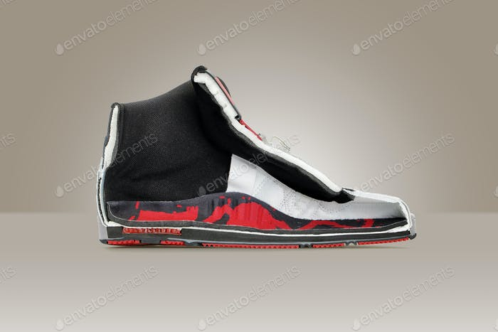 Cut in a half sneakers