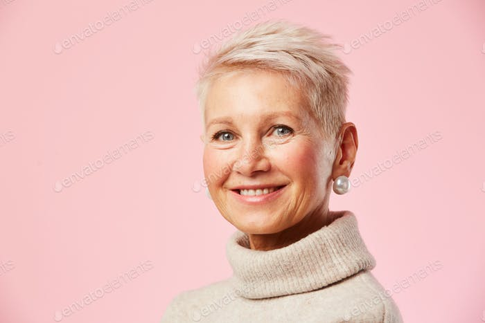 Elegant mature woman