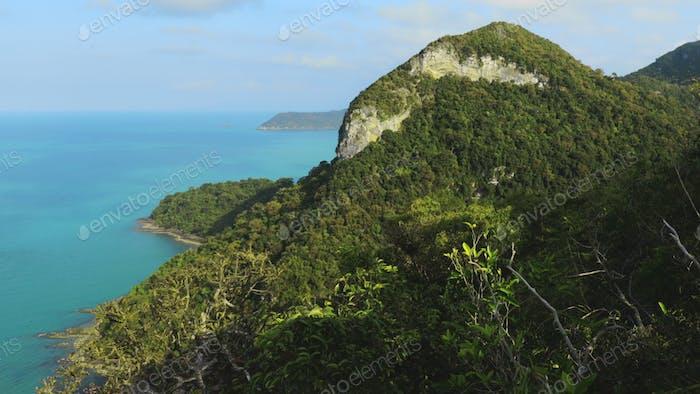 Gruppe von Inseln im thailändischen Meerespark