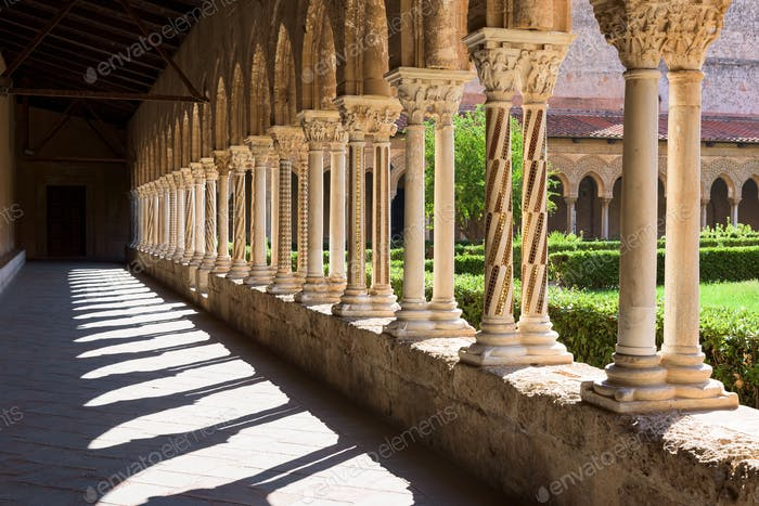Cloister at the Monreale Abbey