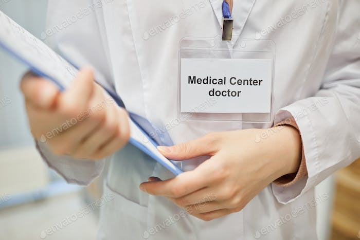 Doctor with medical card