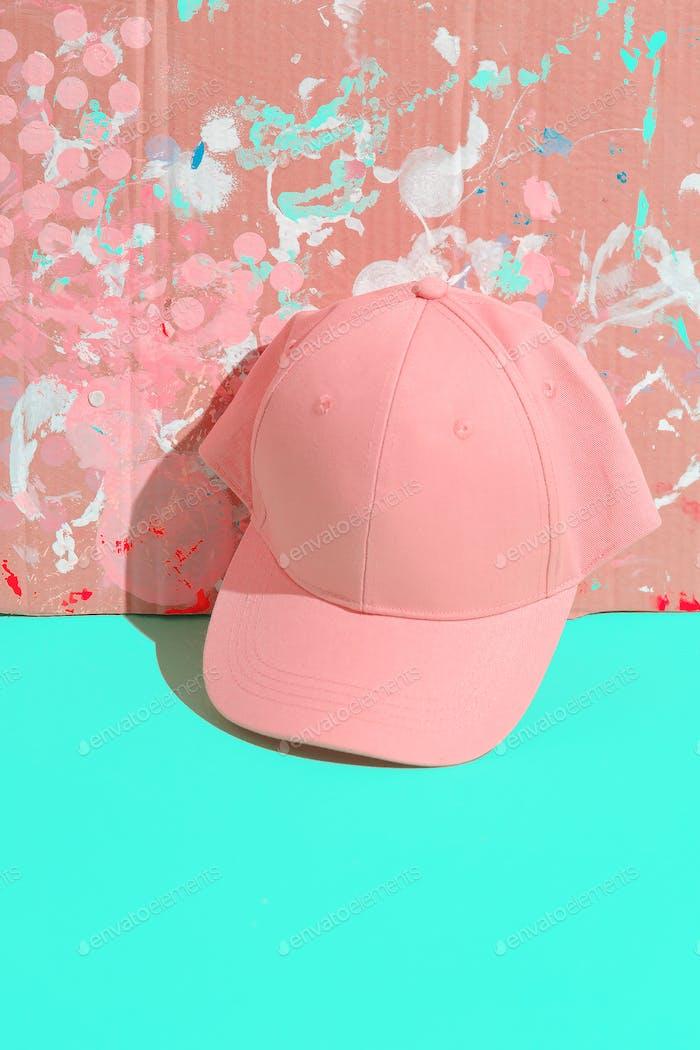 Bright Summer Fashion Accessory Cap. Urban pastel vanilla style