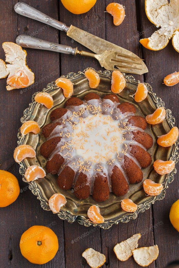 Tangerine cake.Christmas Baking.