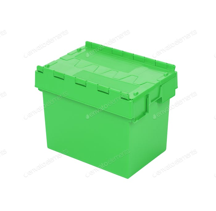 Green box for tools isolated on the white
