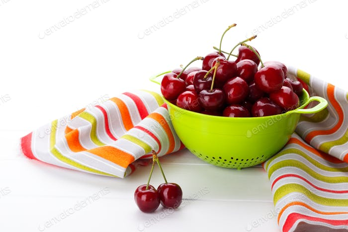 Ripe sweet cherries