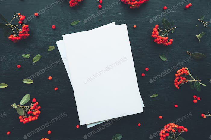 Hardcover book cover design mock up top view