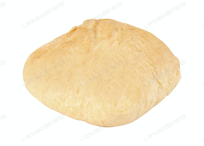 baked pie isolated on white