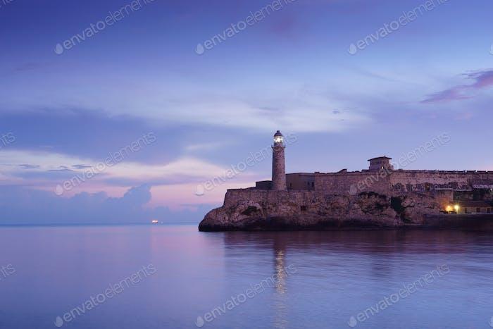 Kuba Karibisches Meer La Habana Morro Leuchtturm