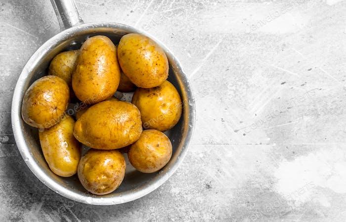 Kartoffeln in der Schöpfkelle.