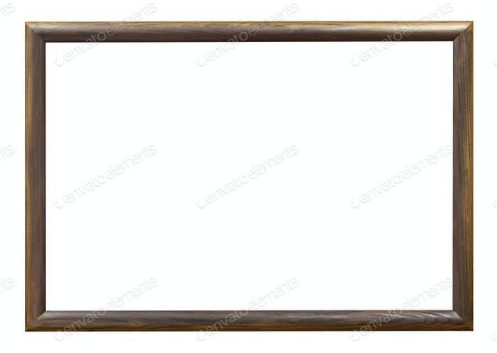 dark brown wooden simple narrow picture frame