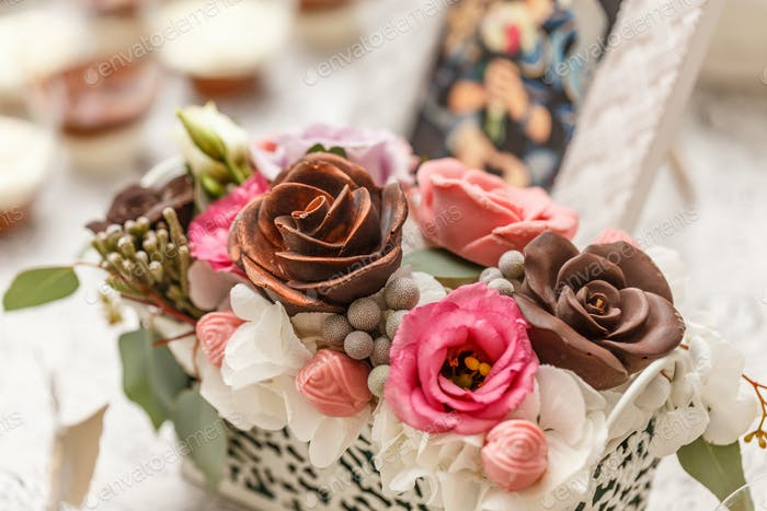 Delicious wedding candy bar