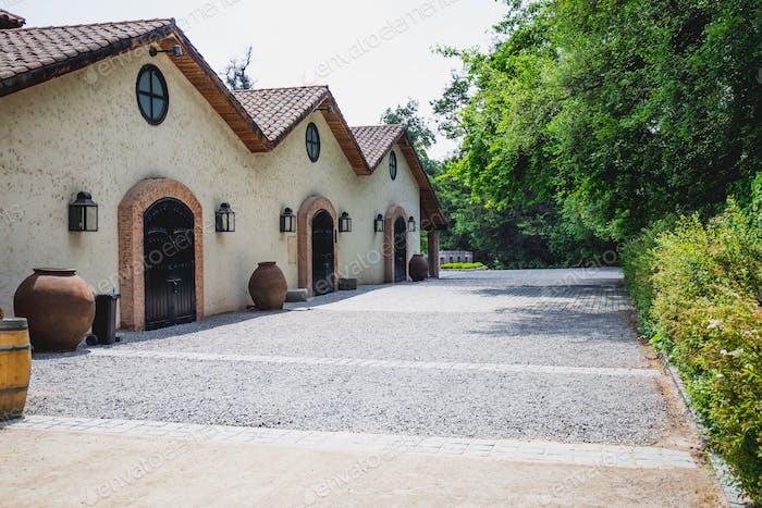 SANTIAGO, CHILE - NOV 29, 2018: Concha y Toro Mansion and Vineyard