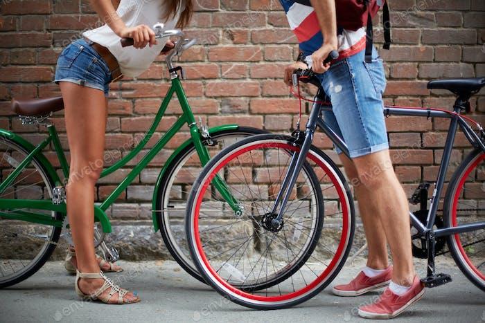 Liebe unter Fahrrädern