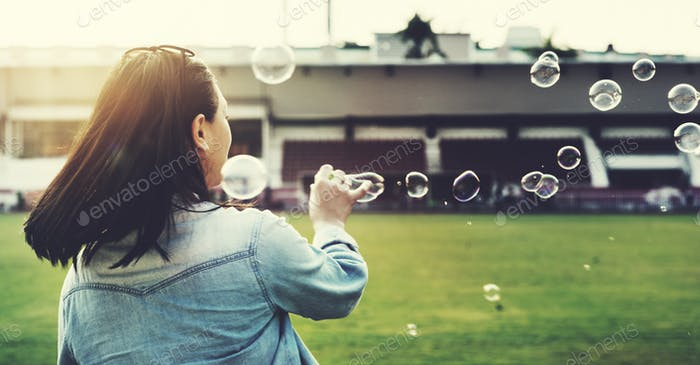 Bubbles Casual Asian Ethnicity Style Outdoor Concept
