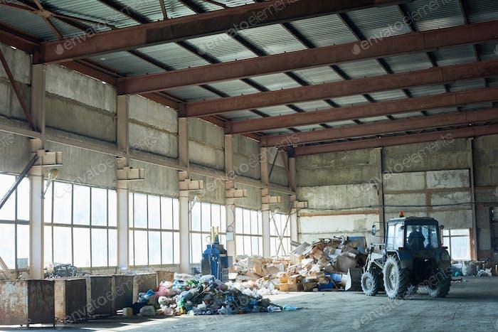 Lagerung in der Abfallaufbereitungsanlage