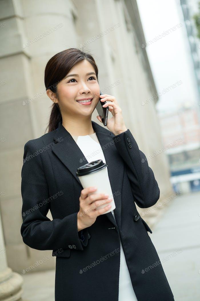 Lawyer businesswoman professional walking outdoors