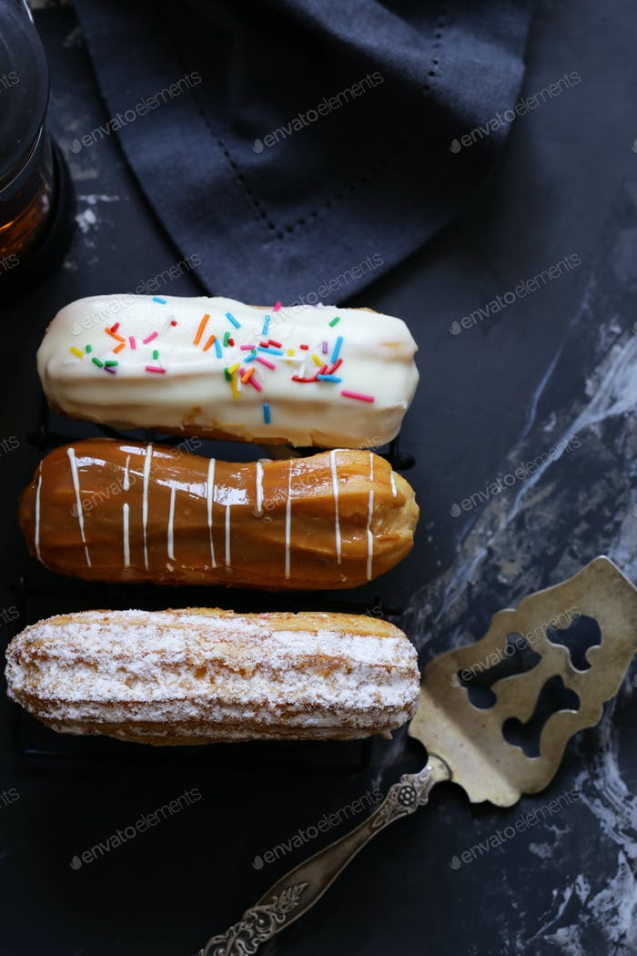 Choux Pastry Eclairs