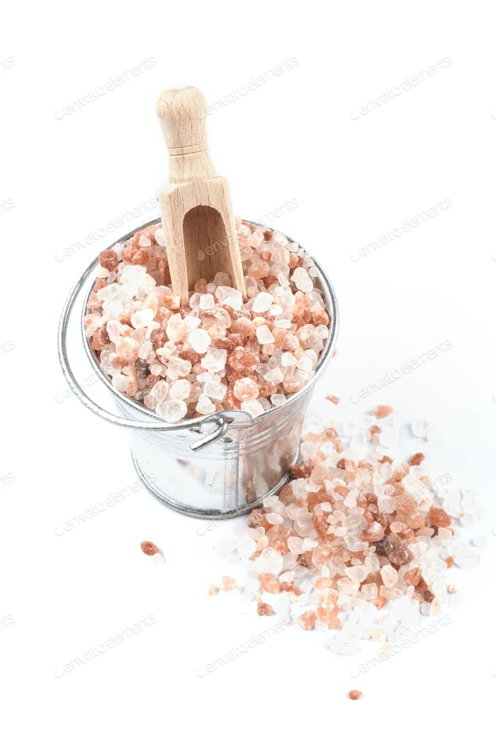 Scoop in Bucket of Salt