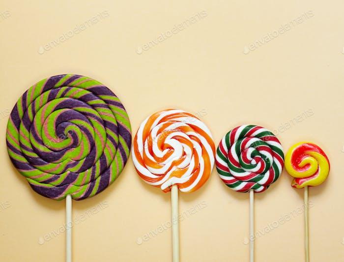 Bunte Lolly Pop Süßigkeiten