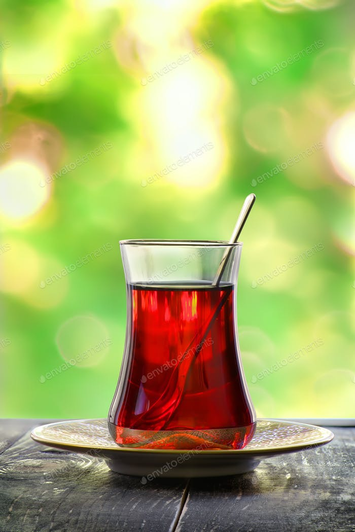 Glass of turkish tea