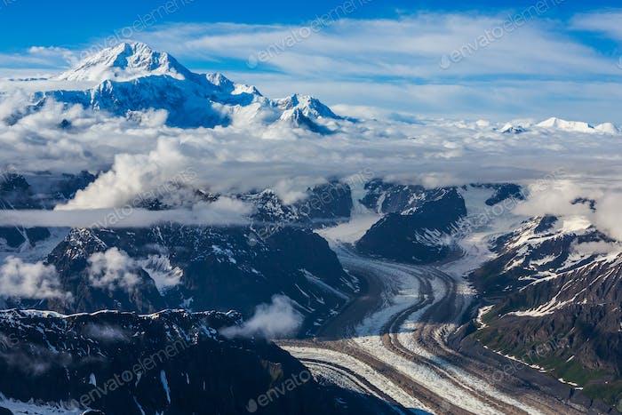 Flying over Glacier