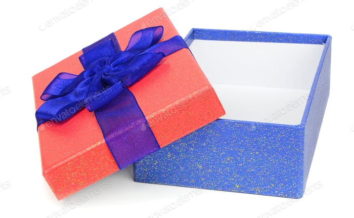 Red and Blue Gift Box