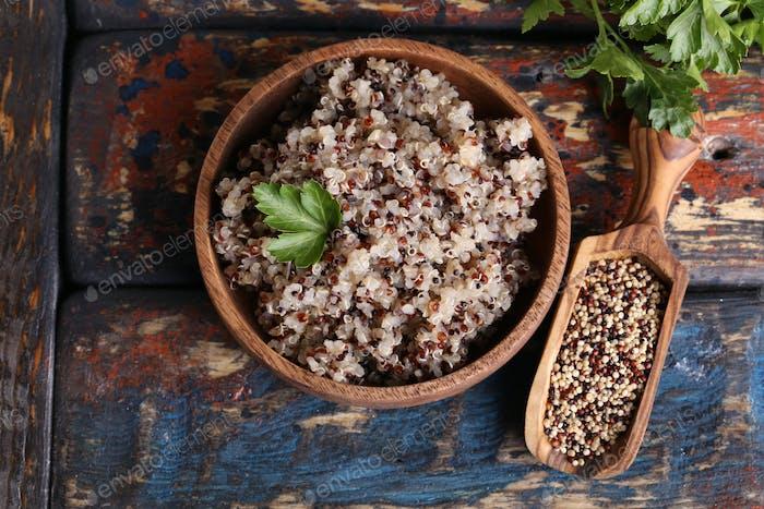 Gekochte Quinoa