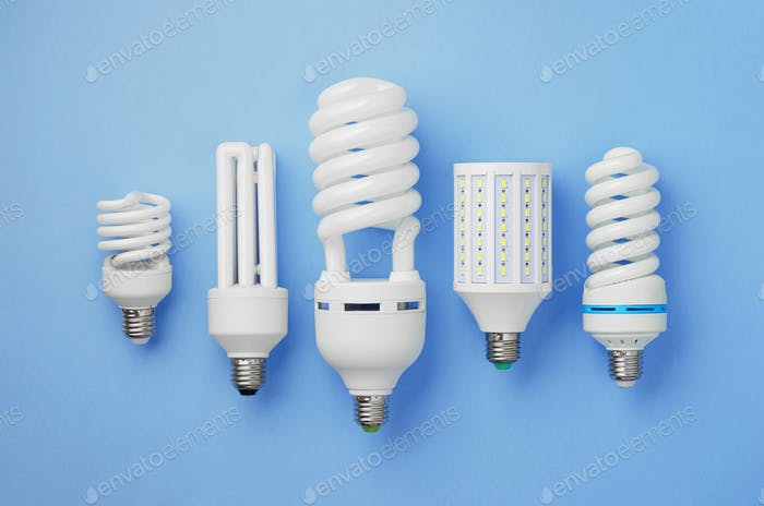 Collection of light bulbs