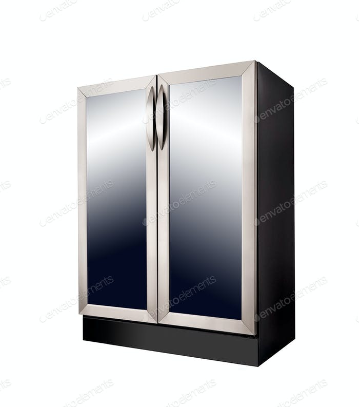 Modern Refrigerator on white background
