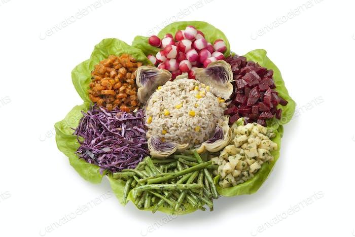 Moroccan dinner salad