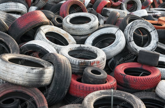 Dump used car tires