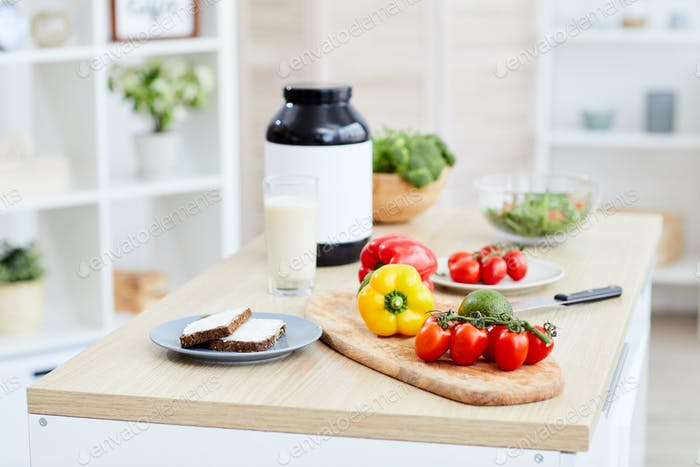 Healthy food and sport nutrition