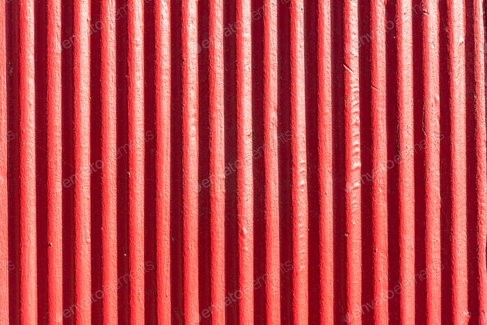 Red corrugated metal sheet background