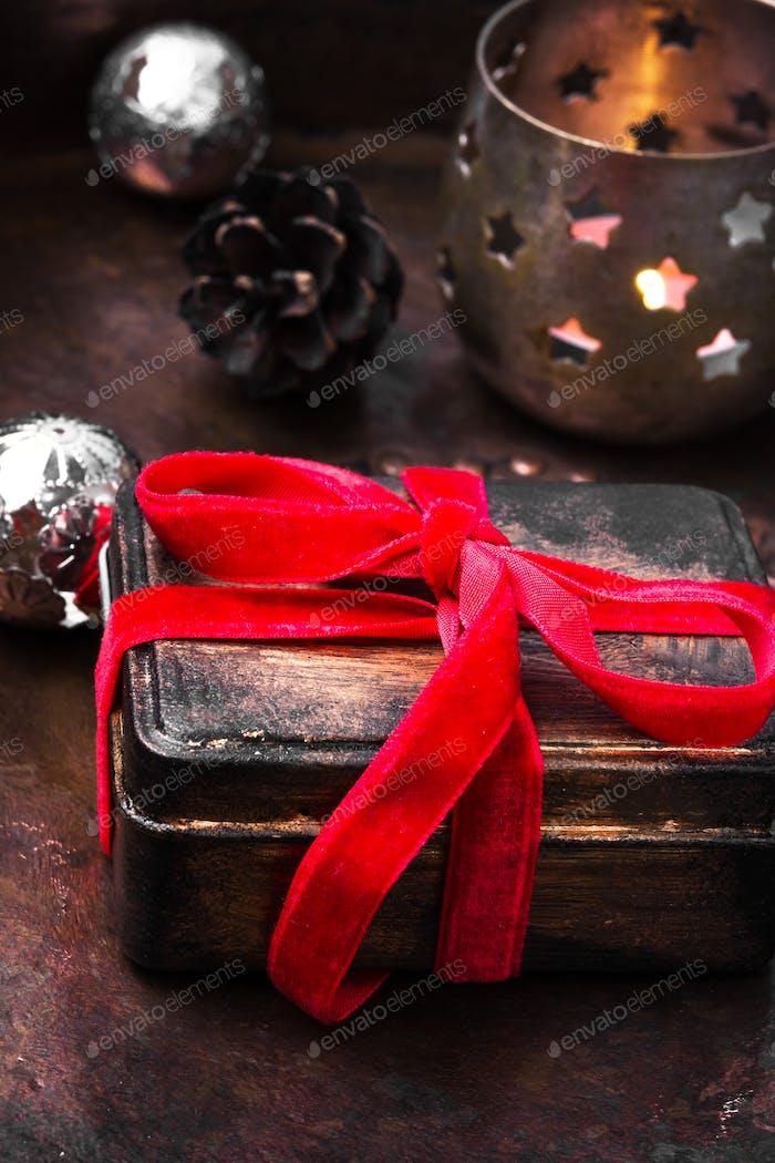 Retro-Weihnachtsschmuck mit Weihnachten