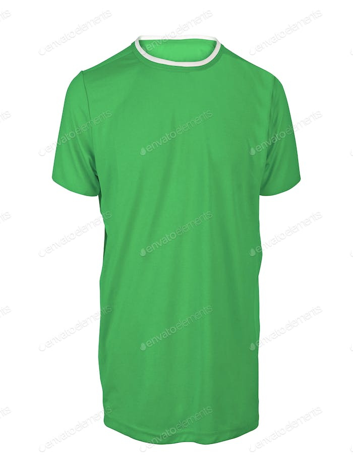 green tshirt isolated