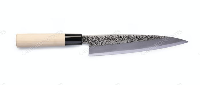Stainless steel santoku knife