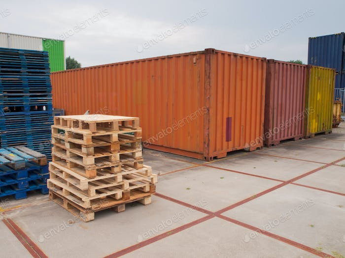 containers and pallets