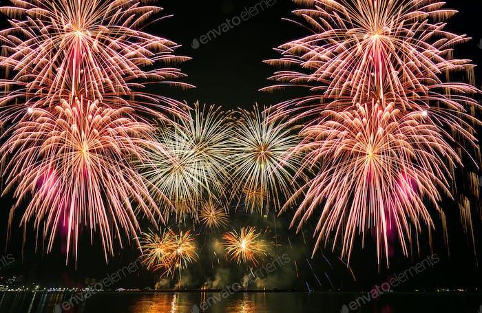 Multicolor Firework Celebration