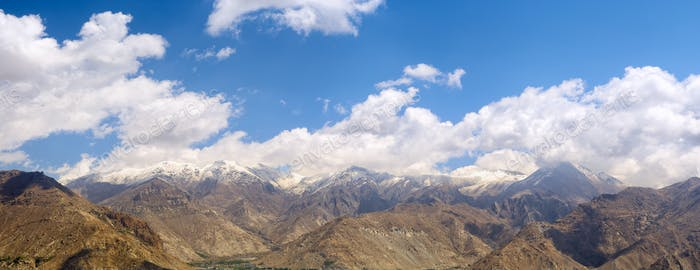 Tibetan mountains panorama