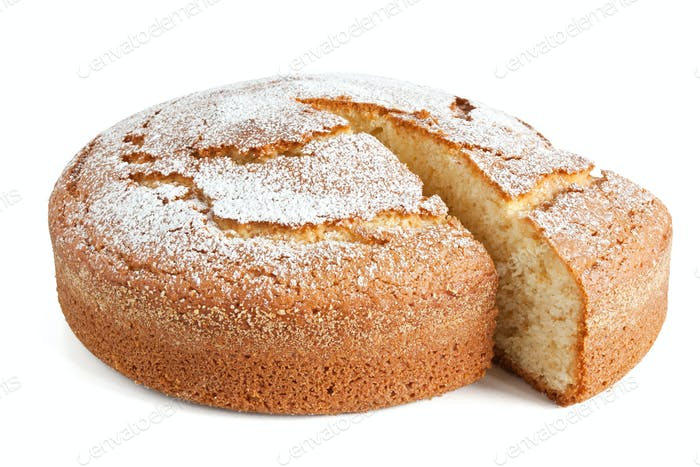 yogurt cake sliced