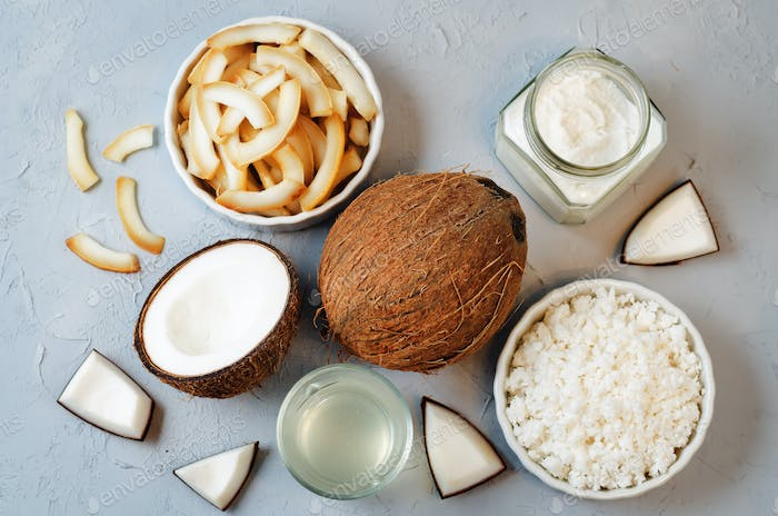 List of coconut dishes. Coconut chips; coconut water; coconut butter and coconut flakes