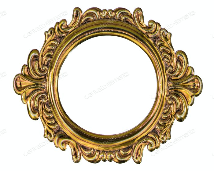 Metal frame isolated on a white background