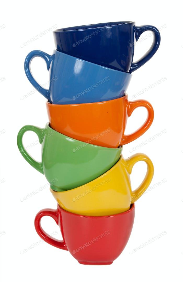 Pile of tea cups