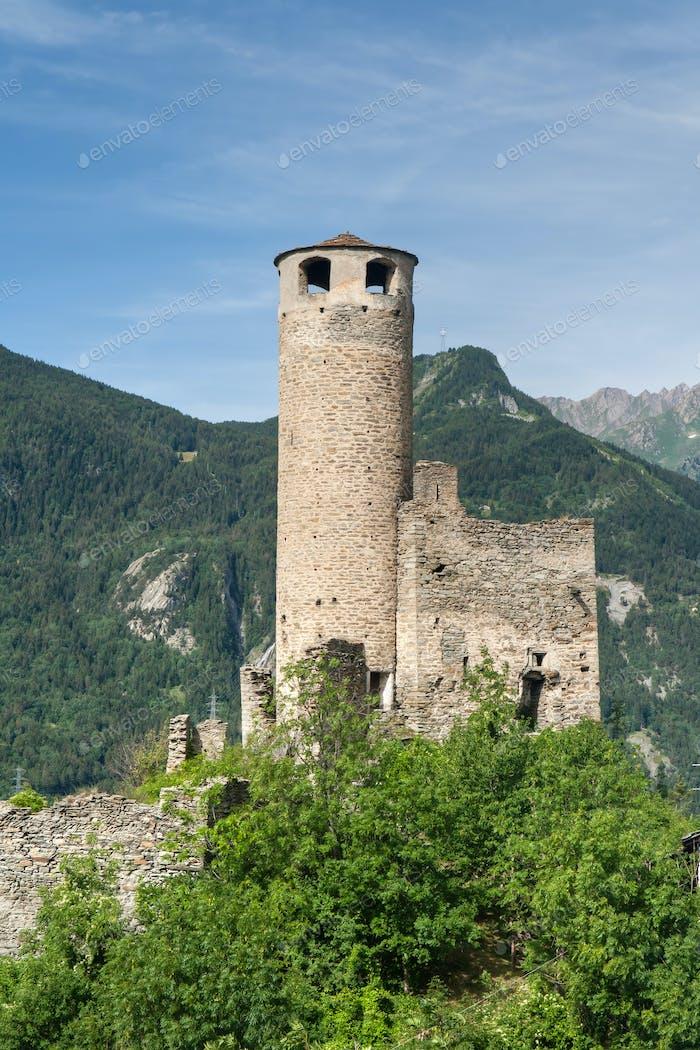 Chatelard Castle, vertical composition
