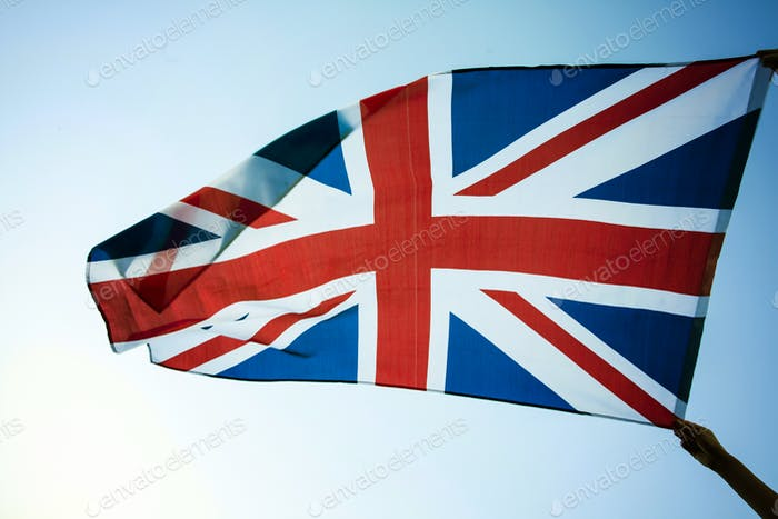 UK flag close up
