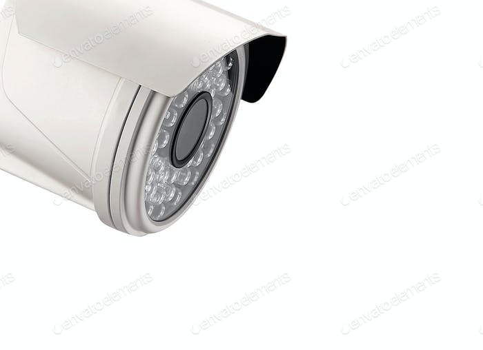 spy camera on white background