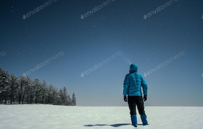 winter star gazing